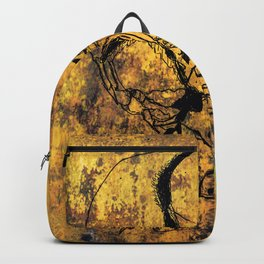 Crushed Skull Drawing Backpack