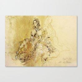 Hommage à Botticelli II Canvas Print