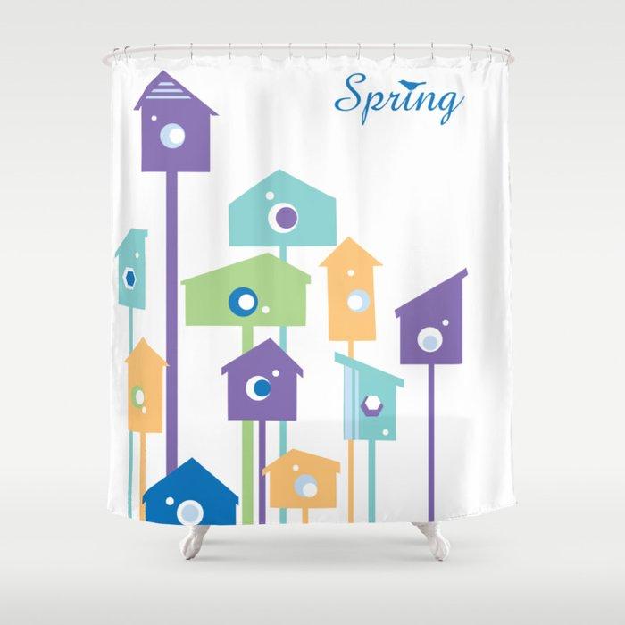 Birdhouse Shower Curtain By Pef Vl
