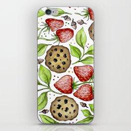 Strawberries and Cookies Design iPhone Skin