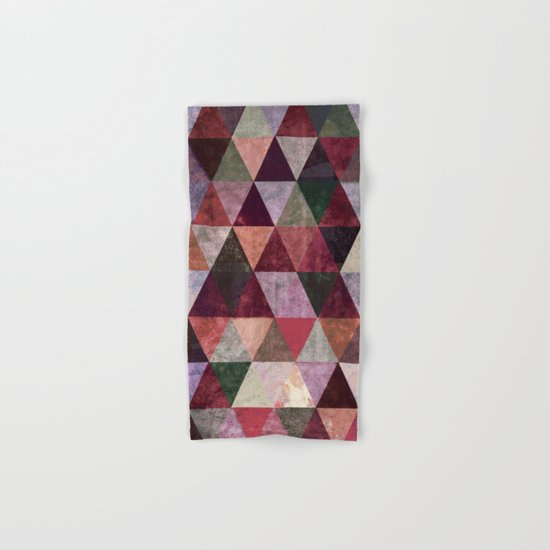 Abstract #480 Grunge Triangles #2 Hand & Bath Towel