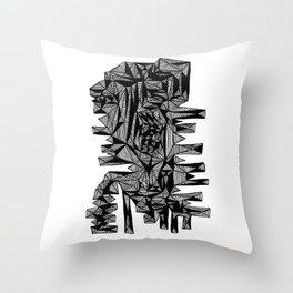 Sammy Abstract Throw Pillow