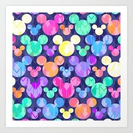 Mickey Mouse Bright Arrows Art Print