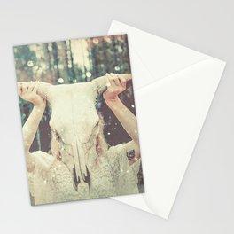Bull Skull Tribal Woman Stationery Cards