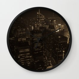 NYC in Sepia Wall Clock