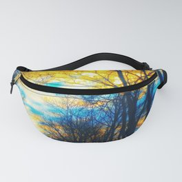Yellow and Blue Forest Fanny Pack