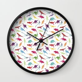 Watercolour Dinosaurs Wall Clock
