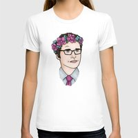 wesley bird T-shirts featuring Flower Crown James Wesley by HayPaige