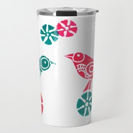 Greeting in Birdsong Travel Mug