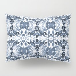 BLUE ABSTRACT LEAVES Pillow Sham