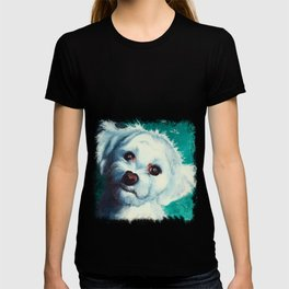 Maltese dog - Pelusa - by LiliFlore T-shirt