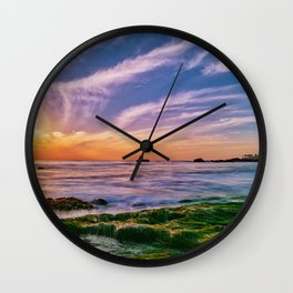 The Reef at Low Tide Wall Clock