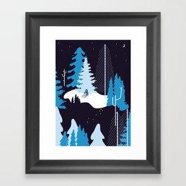 CHILDREN IN THE SNOW Framed Art Print