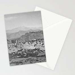 Pikes Peak and the Garden of the Gods, looking over the Gateway. Stationery Cards