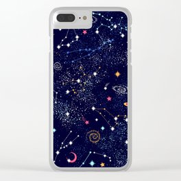 Space print Clear iPhone Case