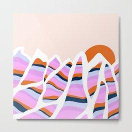 peak to peak: stripes Metal Print