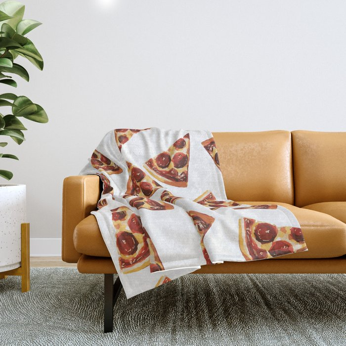 Pizza Fall Throw Blanket