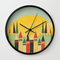 rushmore Wall Clocks featuring Rushmore by Kayla Cole