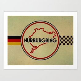 Nürburgring, the Green Hell Art Print