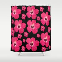 hibiscus Shower Curtains featuring Hibiscus   by maggs326