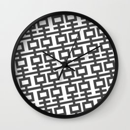 Grey Double Happines Wall Clock