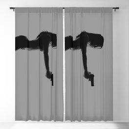 Girls love guns Blackout Curtain