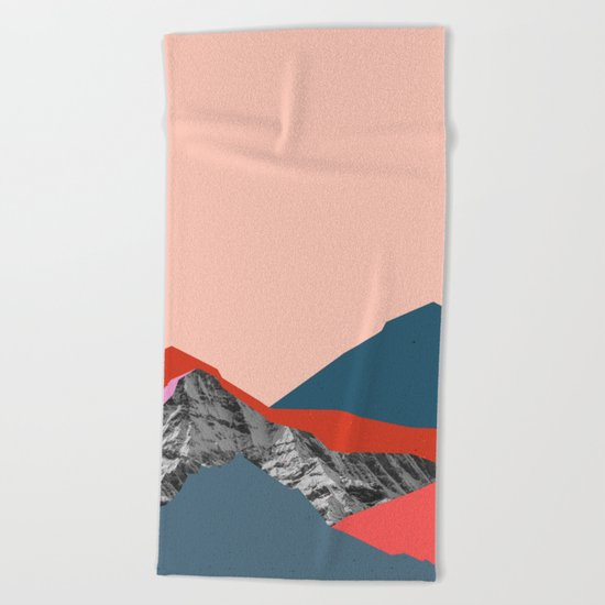 Graphic Mountains Beach Towel