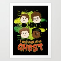 ghost busters Art Prints featuring Lego Busters by plopezjr