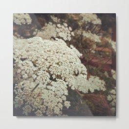 white lace Metal Print