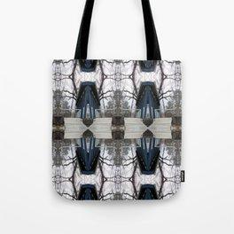 Morph Tree Cat Blue Tote Bag