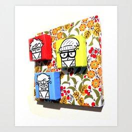 Little Hipster Guys Art Print