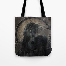 Gothic Friesian Horse Tote Bag