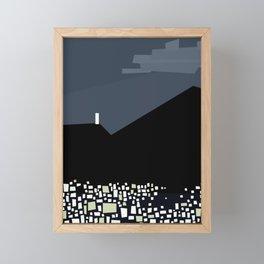Caracas City at Night by Friztin Framed Mini Art Print
