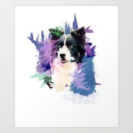 Border Collie T-Splash Art Dog Owner Gift Art Print