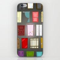 doors iPhone & iPod Skins featuring Doors by Derek Temple