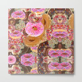 IRON&EMOTION I DONUT GIVE A DAMN ABOUT HAVING ABS Metal Print