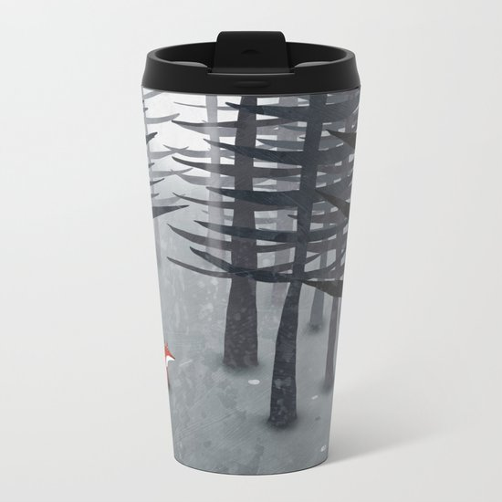 The Fox and the Forest Metal Travel Mug