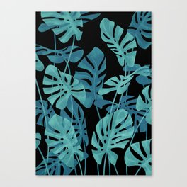 Graphic Monstera leaves. Canvas Print