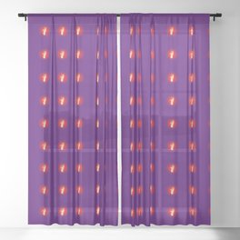 Time Travel Witch Sheer Curtain