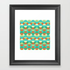 diamonds & dots Framed Art Print