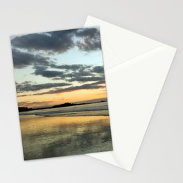Sunset on the beach (St Malo, Brittany, France) Stationery Cards