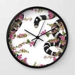 Snake Floral Wall Clock