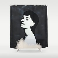 audrey Shower Curtains featuring Audrey by EISENHART