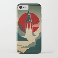 vintage map iPhone & iPod Cases featuring The Voyage by Danny Haas