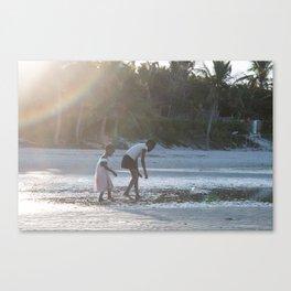 Searching for Seashells III Canvas Print