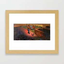 """""""Man with a Poodle"""" Framed Art Print"""