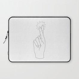 Fingers Crossed Laptop Sleeve