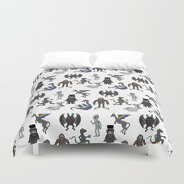Cryptid Friends Duvet Cover