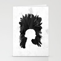 black swan Stationery Cards featuring Black Swan by Bill Pyle