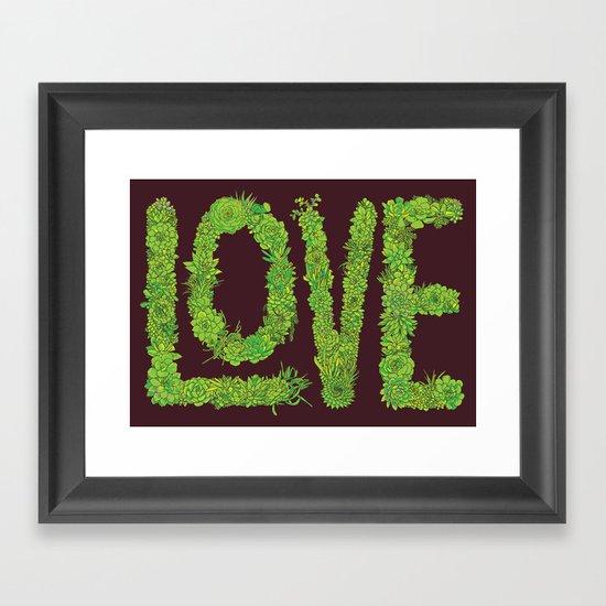 Succulent Love Framed Art Print
